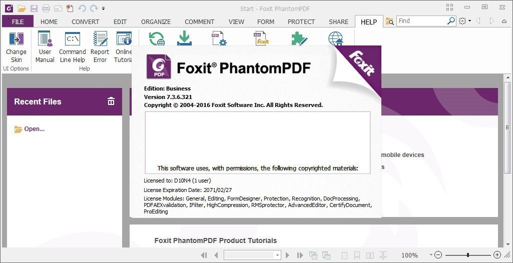 Foxit PhantomPDF Business Crack 10.0.1.35811 With Latest Download