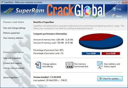 PGWare SuperRam Crack 7.7.13.2020 + Serial Key Full Latest