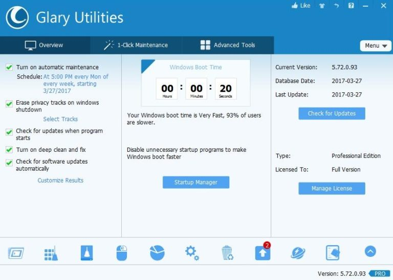 Glary Utilities Pro Serial Key 5.148.0.174 Crack Free Download 2020