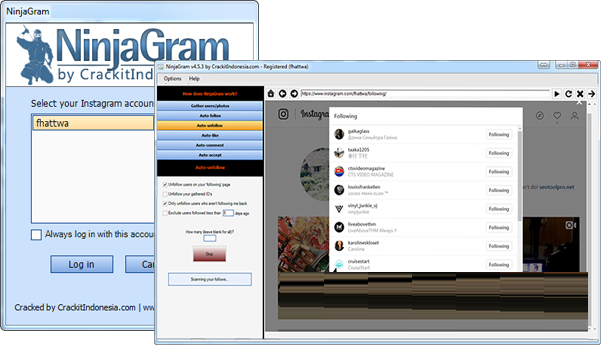 NinjaGram Crack 7.6.4.9 Instagram bot Free Download 2021