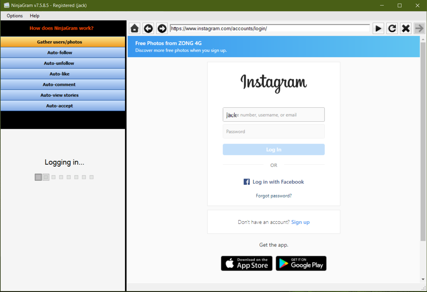 NinjaGram Crack 7.6.4.2 Instagram bot Free Download 2020