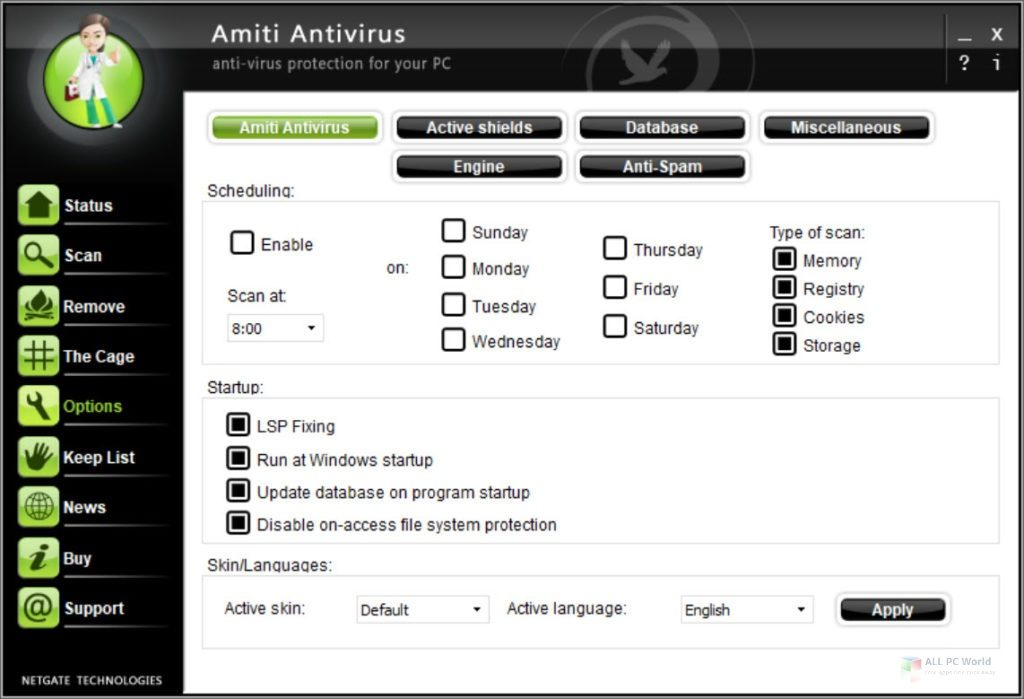 NETGATE Amiti Antivirus Crack 25.0.810 With License Key Download