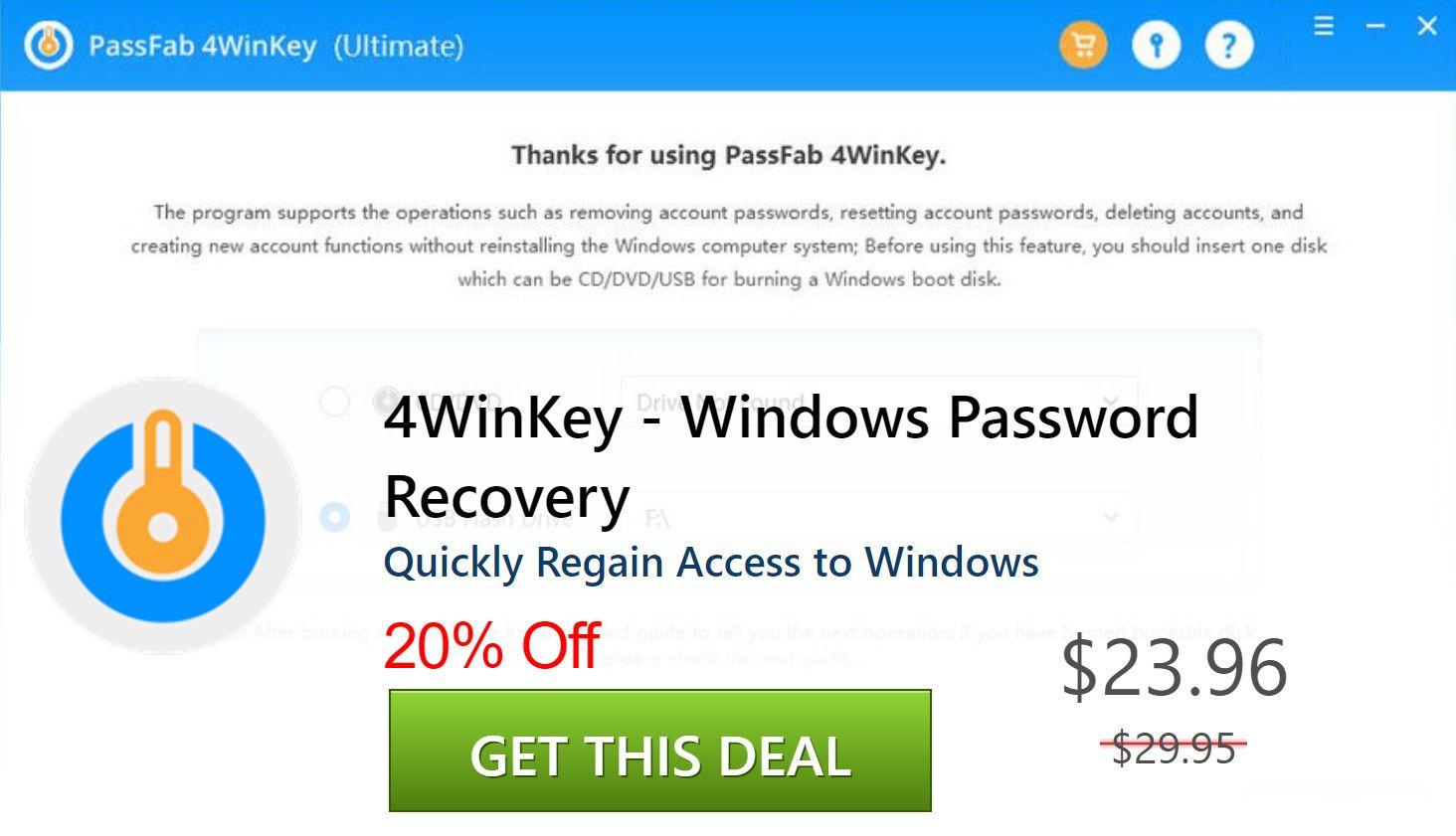 PassFab 4WinKey Ultimate Crack 7.2 & Keygen [Latest] 2021 Download