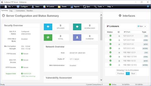 Cerberus FTP Server Enterprise Crack 12.0.2 With Full Keygen [Latest] 2021
