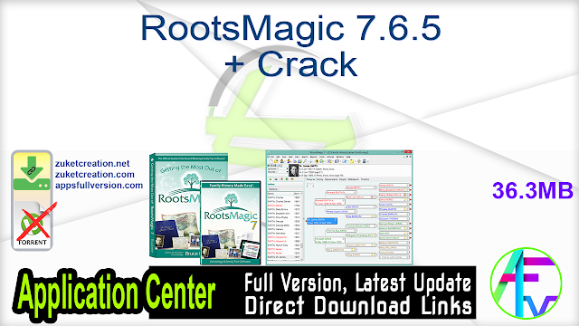 RootsMagic Crack 7.6.5 With Keygen Full Version [Latest] 2021