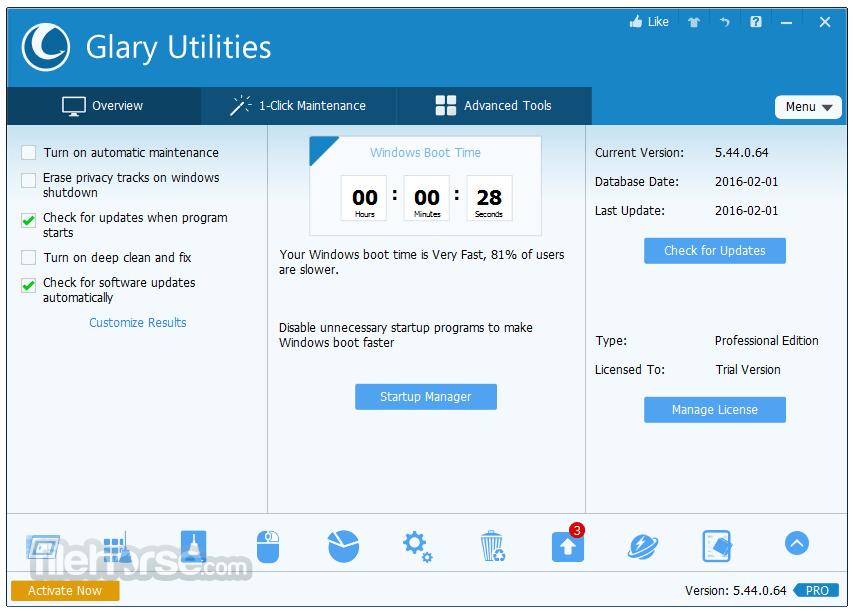 Glary Utilities Pro Crack 5.170.0.196 + With Keygen Torrent Latest 2021