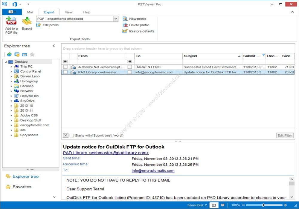 Encryptomatic PstViewer Pro Crack v9.0.1239.0 Full Version 2021 Free Download