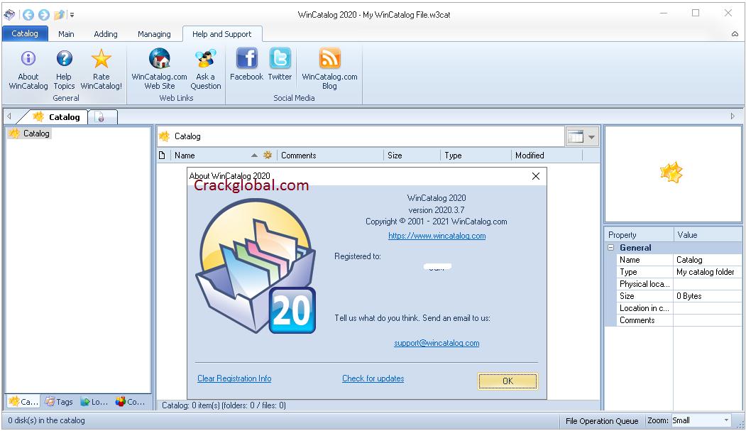 WinCatalog Crack v5.1.216 With Keygen [Latest] 2021 Free Download